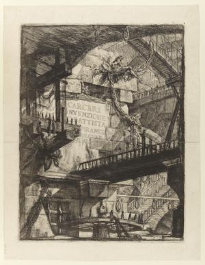 Första gravyren i Giovanni Battista Piranesis serie