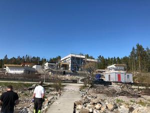 Här byggs huset på Alnö. Bild: Privat.