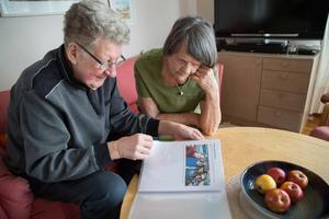 När Gerda fyllde 90 år fick hon ett slags fotoalbum av Gunnar, om deras liv tillsammans.
