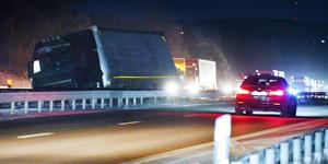 Olyckan inträffade vid avfarten till Järna. Foto: Pontus Stenberg