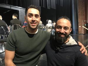 Mustafa Panshiri och Callis Ahmid åker land och rike runt och föreläser för nyanlända, ensamkommande och, som på Slottegymnasiet, för alla elever.