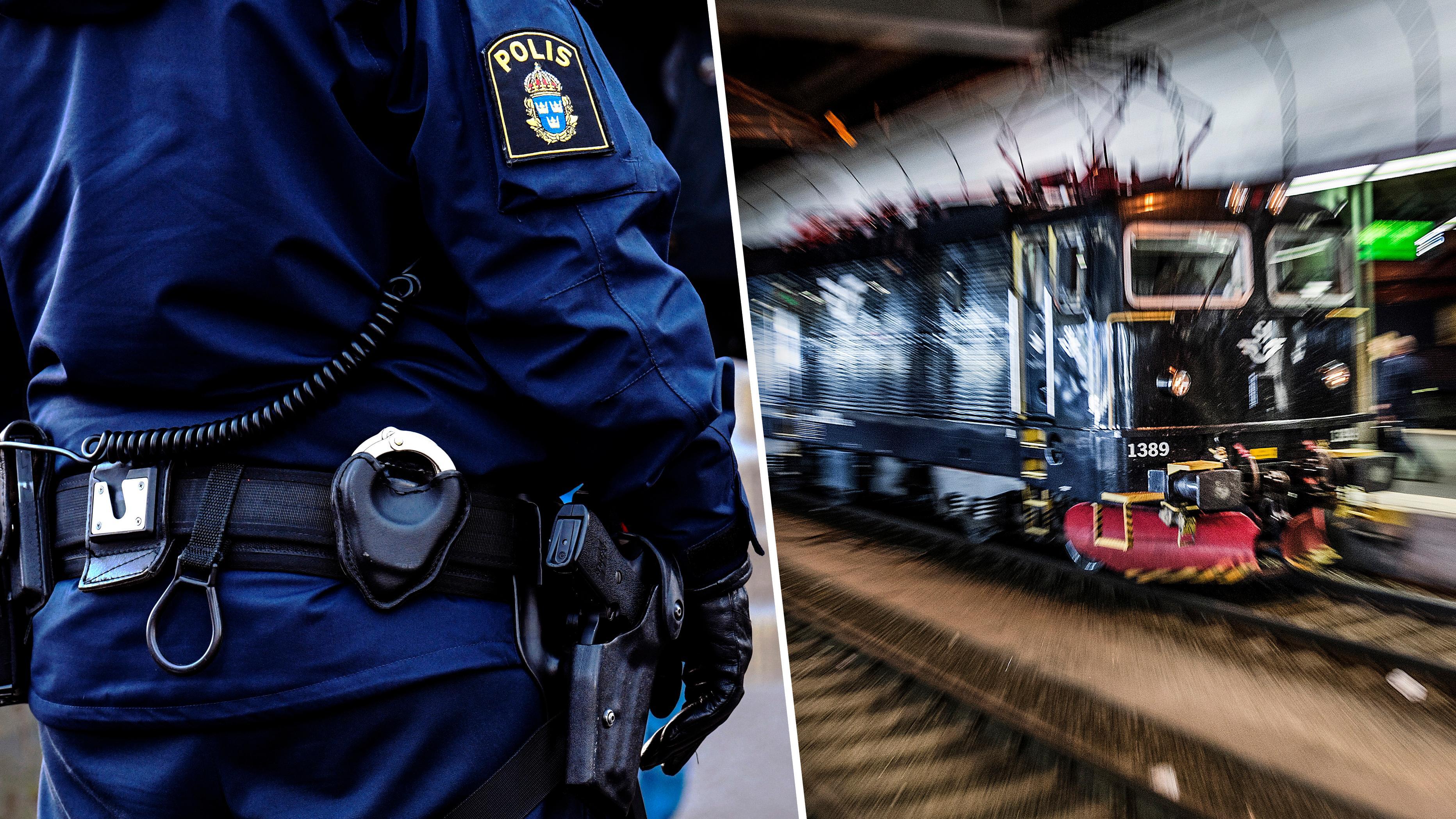 Poliser far sjalva testa pepparspray