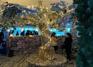 Vintersmyckad bar på Birka. Foto: Maj Bjurbäck