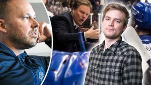 Hockeypuls Marcus Simm om Mikael Karlbergs beslut att hoppa av och återgå till tjänsten som junioransvarig. Foto: Lars Dafgård/DT, Daniel Eriksson/Bildbyrån