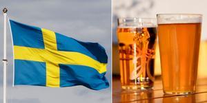 En man fastnade i en nykterhetskontroll, efter att på nationaldagen ha druckit för mycket alkohol för att få köra bil.