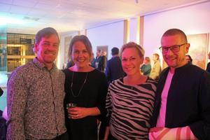 Sandvikengänget Per och Emma Sjöberg samt Titti och Johan Sandström  trivdes inför konserten.
