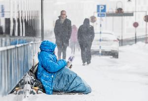 Männen tvingades tigga från morgon till kväll enligt förundersökningen. Foto: Lars Pehrson/SvD/TT