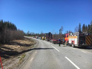 Olyckan inträffade på länsväg 965 vid 10.30-tiden på onsdagen.