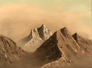 Fotografiskt skarpt bergsmotiv som känns väldigt realistiskt.