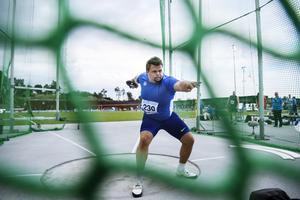 Daniel Ståhl, svensk stjärna i diskus. Foto: Erik Simander/TT