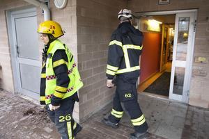 Brandlarmet drog i gång när VLT:s reporter besökte skolan.