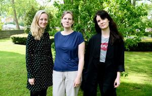 Emilia Söelund, Maria Markenroth Nordenström och Sophia Magasanik diskuterar fantasy i det nya avsnittet av Smålands litteraturpodd.