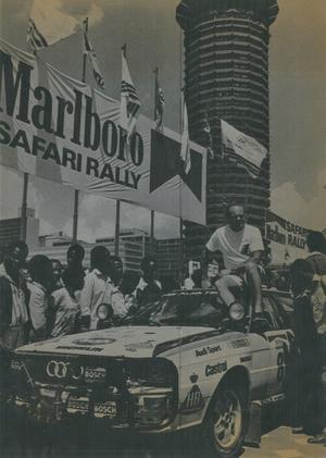 Populär i Afrika. Stig laddar inför starten i Safarirallyt i Nairobi, Kenya, 1984. Stig vann aldrig VM-rallyt  men 2015 tog han hem den klassiska varianten – som 69-åring. Arkivbild: Thomas Lindberg