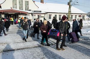 Det är svårt att undvika spårspring vid centralstationen i Sundsvall.
