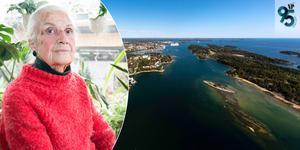 Inga Jansson har firat sin 95:e födelsedag. Foto: Carina Albin/ Peter Ohlsson (vy över hamnen och Bedarön)