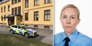 Enligt Maria Linné jobbar polisen med att det rör sig om ett skarpt hot. Bilder: Gunnar Stattin och Polisen