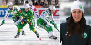 VSK:s Malin Hedfors ser fram emot lördagens rivalmöte mot Skutskär. Foto: Fredrik Sandberg / TT