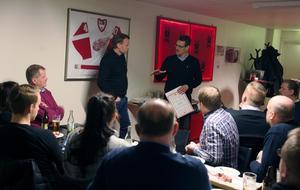 Kvällens träff gästades av Timrå Ik:s assisterande tränare Johan Thelin som intervjuades av Lars Nolander.