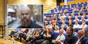 Bokningen av Alexander Bard till Företagardagen har väckt reaktioner. Foto: Leif R Jansson/scanpix, Henrik Sjöström.