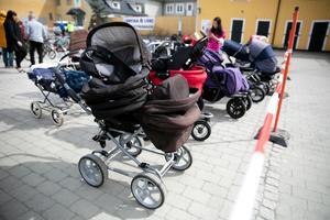 Barnvagnarna var lite svårsålda, kanske var det inte så känt bland småbarnsföräldrarna.