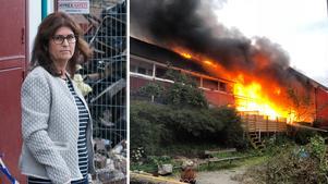 Gensin Hamra bor precis intill grannlängan som brann ner.