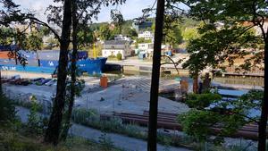 Ombyggnaden av Södertälje kanal sommaren 2018.