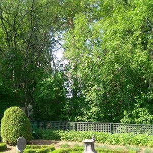 Trädgården vid Hildasholm i Leksand bjöd på en grönskande och avkopplande miljö.