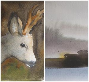 Målningar av Lise Devrient.