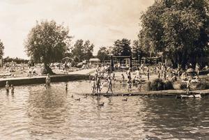Lövuddens badplats 1987.