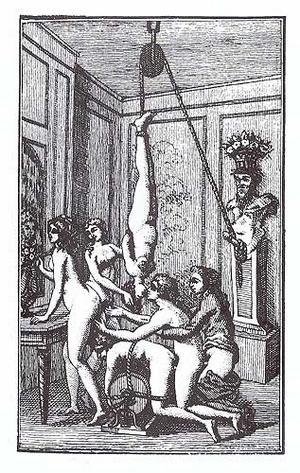 Illustration ur Markis de Sades