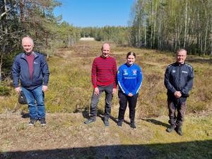 Från vänster: Stefan Burchardt, Bengt Jansson, Ellen Jansson och Bengt Myrberg. Foto: Helena Jansson