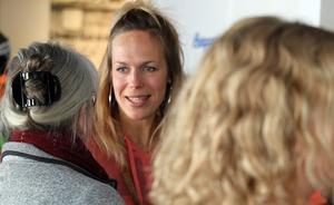 Sandra Charina Lundin minglade och berättade om sin egen del i kollektivet.