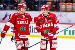 Törnqvist (höger) hoppas spela mot Mora. Foto: Pär Olert.