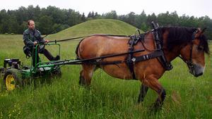 Hans Johansson med en av hans hästar.Foto: Anders P Näsberg