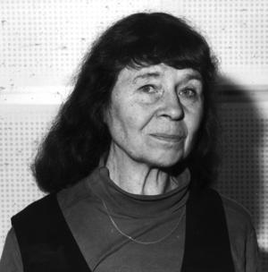 Poeten och författaren Elsa Grave blev 85 år gammal. Hon skrev ända in i slutet. Foto: Anders Holmström / TT