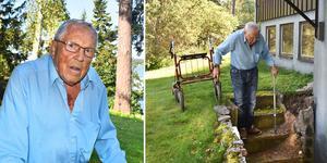 87-åriga Rune Karlsson känner sig inte längre säker i sitt hem, men får avslag på varje ansökan till anpassat boende.