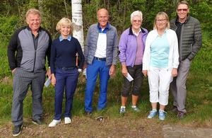 Vinnarna på bild, från vänster: Kjell Hellsing, Stina Karlsson, Björn Karlsson, Elisabeth Nilsson, Hanne Hedin, Ove Nilsson. Foto: Lars Åke Asplund/Läsarbild