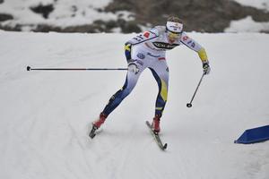 Falun 170129FIS Cross-Country World Cup damer 15 kmStina Nilsson på väg mot en fjärde placeringFoto Nisse Schmidt