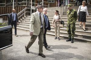 Efter föreläsningen begav sig Carl XVI Gustaf vidare till Bergshotellet där de åt lunch.