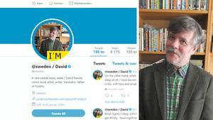 Salasonen David Nessle tar över Sveriges officiella twitterkonto. Montage/Foto: Kim Flymar