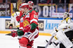 Marcus Fagerudd och hans Mora fick jubla mot Brynäs. Bild: Daniel Eriksson/Bildbyrån
