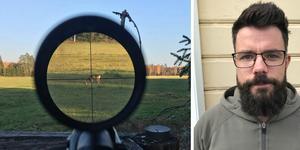 Jaktvårdskonsulent Magnus Hansson, Svenska jägareförbundet, gästar under torsdagen Ljungandalens jaktvårdskrets. Bild: Mats Wikman och privat bild