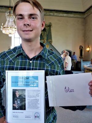 Elias Persson, Österåsen, är en värdig mottagare av stipendiet. Foto: Åke Bengtzon