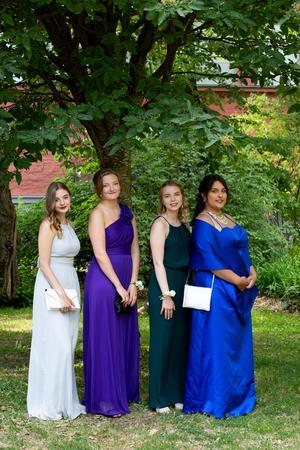 Mina Westgren, Anna Westerlund, Ida Backlund och Cazandra Olsson.