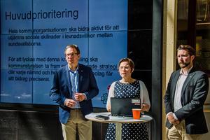 Majoriteten, med Peder Björk (S), Christiane Rüdiger (V) och Hans Forsberg (C) i spetsen, släppte under måndagen sitt budgetförslag för de kommande åren.