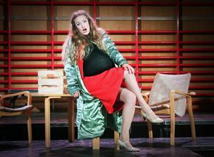Eurydike är inte lycklig, Elsa Rosengren i rollen.