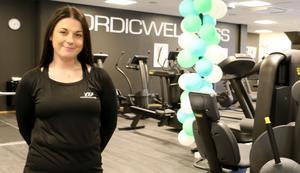 Julia Söderberg är platschef på gymmet Nordic Wellness som öppnade i september på Köpmangatan i Kumla.