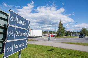 Företagarna i Odenskog har länge velat se en påfart mot E14 i Fagerbackens förlängning. Trafikverket säger dock nej.