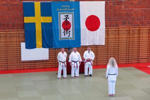 Lasse Stålnacke från graderingen i Linköping i påskas då han erhöll sjätte dan. Endast sex, sju personer i Sverige har högre grad i den gren han utövar. Fotograf: Mandi Nyby Stålnacke.