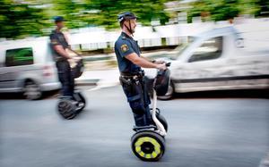 En segway räknas som en cykel.  Bild: Erik Mårtensson/Scanpix/TT/Arkiv